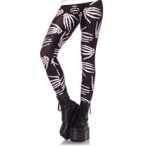 Boney Hands Skeleton Print Legging Small Black/White