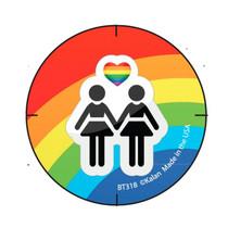 Girl Rainbow Button