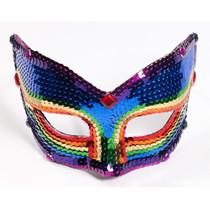 Rainbow Sequin Mask