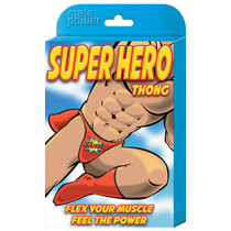 Male Power Novelty Super Hero Thong Black 1SZ