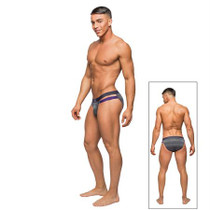 Male Power Heather Haze Cutout Bikini Grey Med