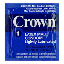 Crown Lubricated Condom (case of 1008)