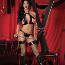 Lust Fetish Temptress Black L/XL
