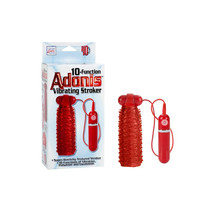 Adonis Vibrating Stroker - Red 10-Function