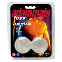 Adam Male Toys Cock N Load Cock Rings (Clear)