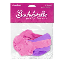 Bachelorette Party Favors X-Rated Pecker Balloons PINK & PURPLE 8 pcs.