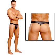Male Power Cobra Micro V Thong Small/Medium (Black)