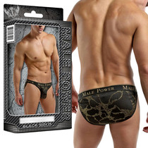 Male Power Black Gold Enrichment Bikini Small (Black & Gold)