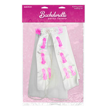 Bachelorette Party Favors Flahsing Pecker Wedding Veil