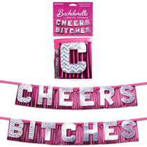 "Bachelorette Party Favors ""Cheers Bitches"" Party Banner"