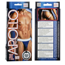 Apollo Mesh Jock with C-Ring - Blue L/XL