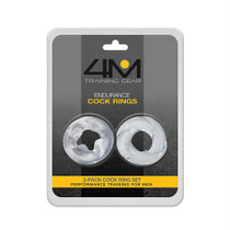 4M Endurance Cock Rings 2 Pack