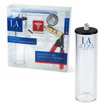 LA Pump Deluxe Erectile Dysfunction Package 2.25 x 9in, packaged