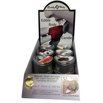 Earthly Body Edible Heart Candle Counter Display (12 assorted candles)