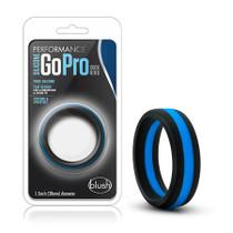 Performance - Silicone Go Pro Cock Ring - Black/Indigo/Black