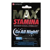 MaxStamina Sexual Stimulant 2 pack (Display of 24)