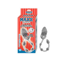 Maxx Gear Vibrating Cockring & Anal Beads Smoke