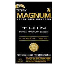 Trojan Magnum Thin Large Size Condoms with UltraSmooth Lubricant - 31934