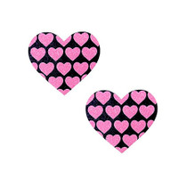 Neva Nude Pasty Hearts On Heart UV Ne Pink/Black