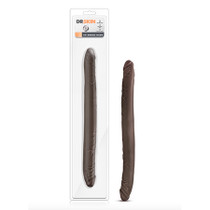 Dr. Skin - 16in Double Dildo - Chocolate