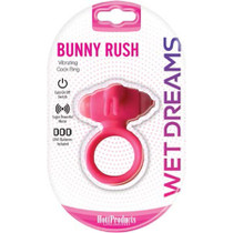 Wet Dreams Bunny Rush Cock Ring With Rabbit Ears /Turbo Motor