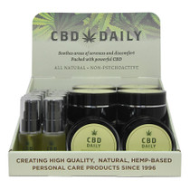 Earthly Body CBD Display: Includes 12- 0.67oz Serum & 10 - 1.7oz Cream 1oz