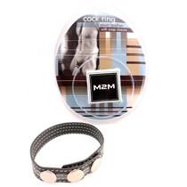 M2M C-Ring 3 Snap Leather Grey/Grey