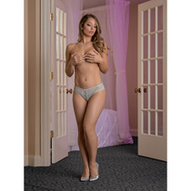 Magic Silk Lace Me Up Panty Grey Queen Size