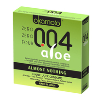 004 Almost Nothing Condom w/Aloe  (3pk)
