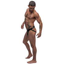 Male Power Black Nite Jock Black LX