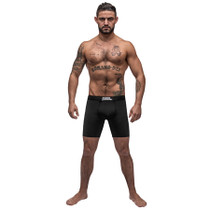 Male Power Black Nite Long Leg Short Black Xlarge