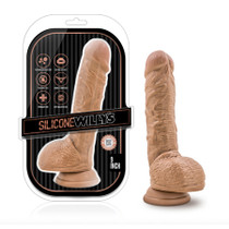 Silicone Willy's - 9 Inch Silicone Dildo with Suction Cup - Mocha