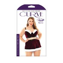 All the Jingle Ladies Costume Set; Long Line Bra, Garter Skirt, and Pant - 71697