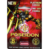 Poseidon Male Supplement Platinum 10000 1Pk (25/DP)