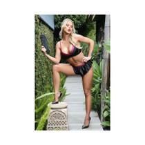 Linda Bralette/Panty Set Blk/Winter L/XL