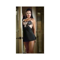 Satin Doll Slip Dress Black M/L