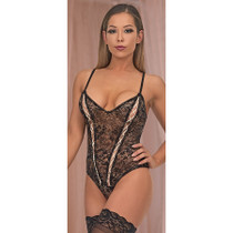 Magic Silk Bewitching Cheeky Teddy Black Queen Size