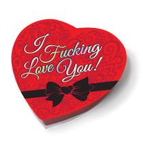 I Fucking Love You Chocolate Heart Box