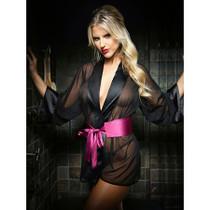 Nancy Dressing Robe Panty Set Blk L/XL