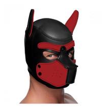 MS Spike Neoprene Puppy Hood - Red