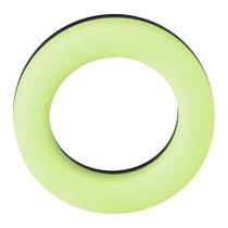 Forto F-19: 100% Liquid Silicone 2 Tone C-Ring GITD/Black