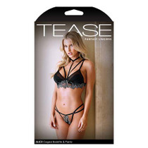 Tease Alice Caged Bralette and Panty S/M