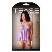 Tease Angela Underwire Cutout Babydoll and Panty L/XL