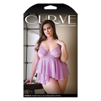 Curve Angela Underwire Cutout Babydoll and Panty 1x/2x