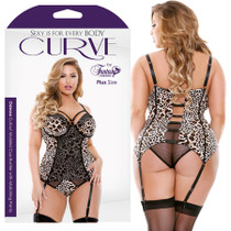 Curve Odessa Cutout Bustier With Matching Panty 1X/2X