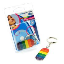 GS Metal Rainbown Flag Key Chain