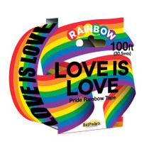 Love Is Love - Rainbow Style - Caution Party Tape. 100'