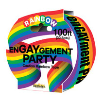 Engaygement - Rainbow Style - Caution Party Tape. 100'