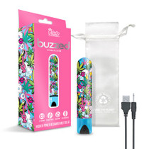 """Prints Charming Buzzed Rechargeable 3.5"""" Bullet - Stoner Chick - Blue"""