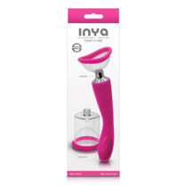 INYA Pump and Vibe W/Interchangeable Suction Cups Pink